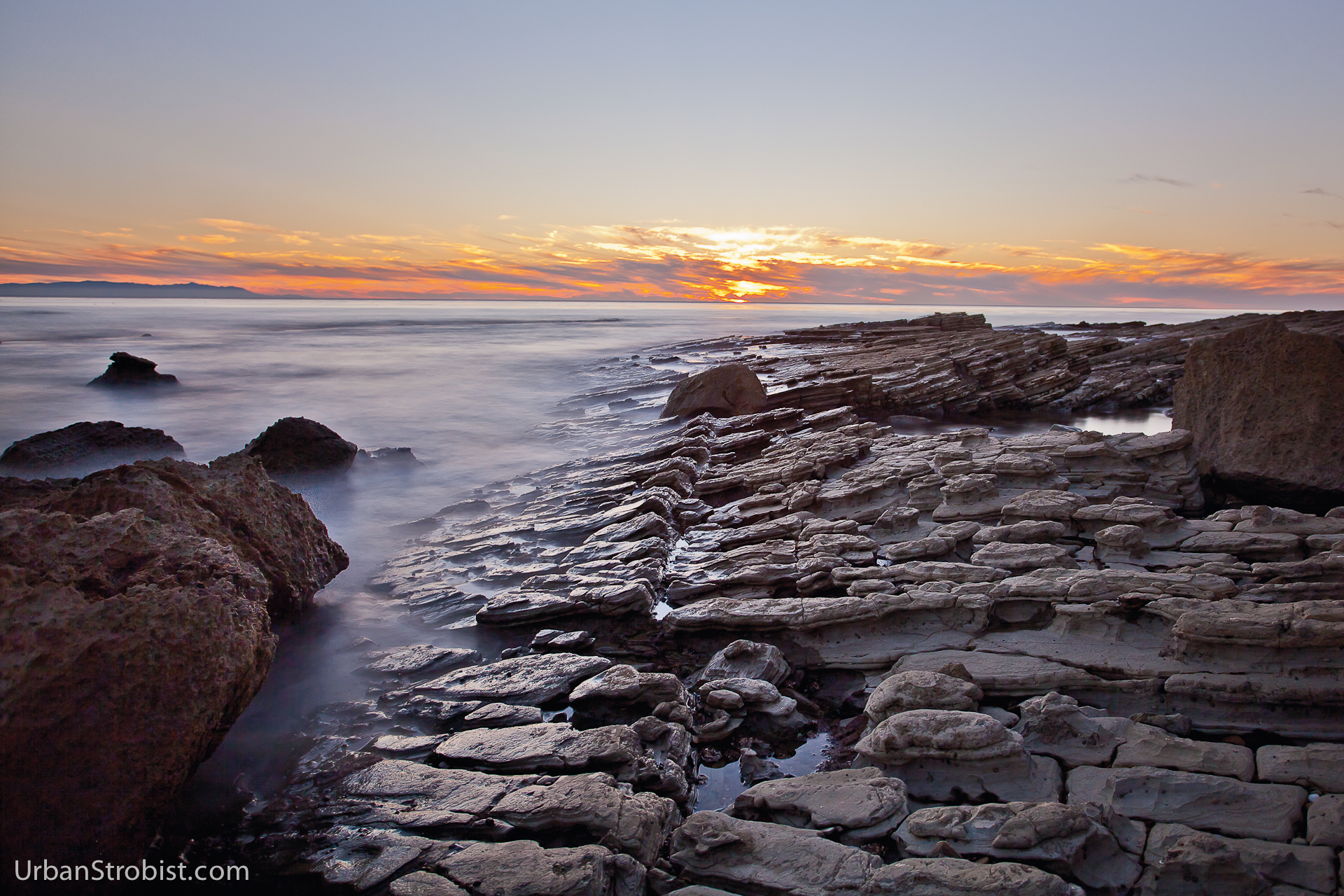 Sunset on the Rocks - Abalone Cove